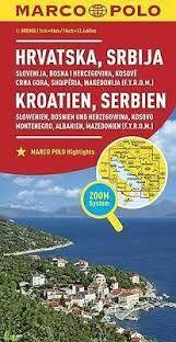 CROATIA, SERBIA [HRVATSKA, SBRIJA] 1:300.000 -MARCO POLO