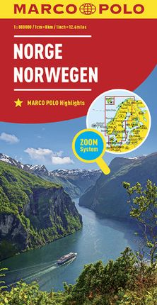 NORGE / NORWAY [1:800.000] -MARCO POLO