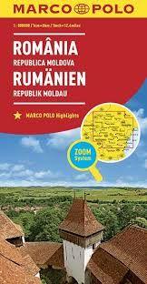 ROMANIA REPUPLICA MOLDOVA 1:800.000 -MARCO POLO