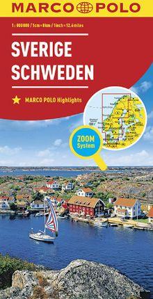 SVERIGE - SWEDEN 1:800.000 -MARCO POLO