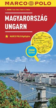 MAGYARORSZAG UNGARN HUNGARY 1:300.000 -MARCO POLO
