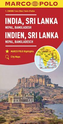 INDIA, SRI LANKA 1:2.500.000 -MARCO POLO