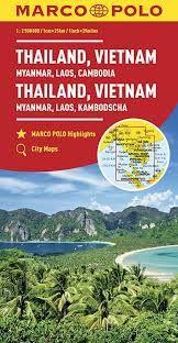 THAILAND, VIETNAM, MYANMAR, LAOS, CAMBODIA 1:2.500.000- MARCO POLO