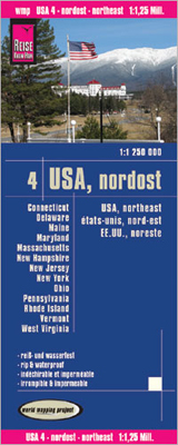 USA 4 - NORDOST - NORTHEAST 1:1.250.000 -REISE KNOW-HOW