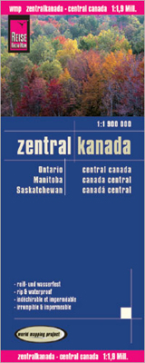 ZENTRALKANADA - CENTRAL CANADA 1:1.900.000 -REISE KNOW HOW