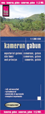 KAMERUN, GABUN / CAMEROON, GABON 1:1.300.000 -REISE KNOW-HOW
