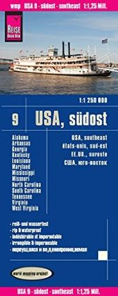 USA 9 - SUDOST/SOUTHEAST 1:1.250.000 -REISE KNOW-HOW