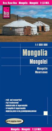 MONGOLEI /MONGOLIA 1:1.600.000 -REISE KNOW-HOW