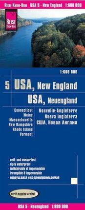 USA 5 - NEW ENGLAND 1:600.000 -REISE KNOW-HOW