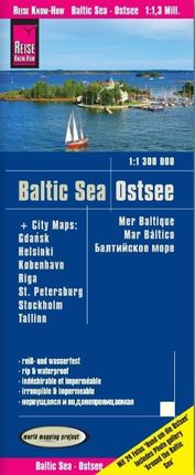 BALTIC SEA - OSTSEE 1:1.300.000 -REISE KNOW HOW