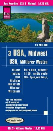 USA 3 - MITTLERER WESTERN / MIDWEST 1:1.250.000 -REISE KNOW-HOW