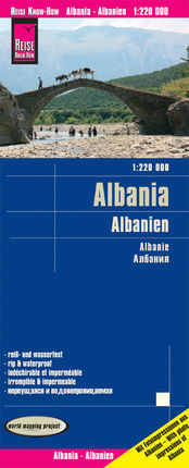 ALBANIA - ALBANIEN 1:220.000 -REISE KNOW-HOW