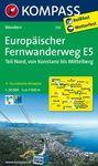 120 EUROPAISCHER - FERNWANDERWEG E5 1:50.000 -KOMPASS