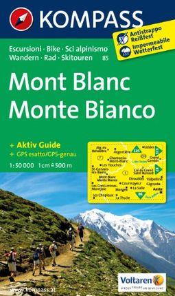 85 MONTE BIANCO MONT BLANC 1:50.000 -KOMPASS