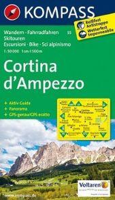 55 CORTINA D'AMPEZZO 1:50.000 -KOMPASS