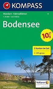 11 BODENSEE 2 MAPS 1:35.000 -KOMPASS