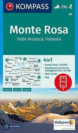 88 MONTE ROSA 1:50.000 -KOMPASS
