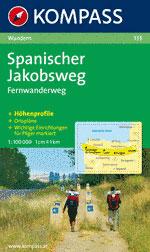 133 SPANISCHER JAKOBSWEG 1:100.000 -KOMPASS