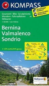 93 BERNINA, VALMALENCO, SONDRIO 1:50.000 -KOMPASS