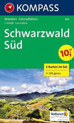887 SCHWARZWALD SUD 1:50.000 [2 MAPAS] -KOMPASS