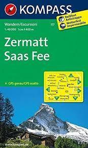 117 ZERMATT - SAAS-FEE [1:40.000] -KOMPASS