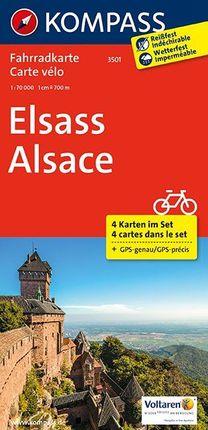 3501 ELSASS - ALSACE 1:70.000 [4 MAPES BICICLETA] -KOMPASS