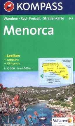 243 MENORCA 1:50.000 -KOMPASS