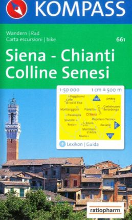 661 SIENA - CHIANTI - COLLINE SENESI 1:50.000 -KOMPASS
