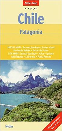 CHILE-PATAGONIA 1:2.500.000 -NELLES MAP