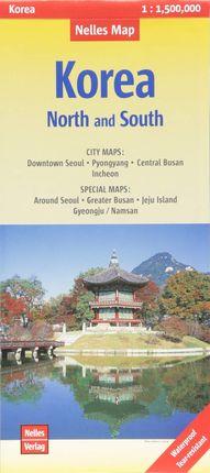 KOREA NORTH & SOUTH 1:1.500.000 -NELLES