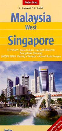 MALAYSIA WEST 1:1.500.000 SINGAPORE 1:15.000 -NELLES