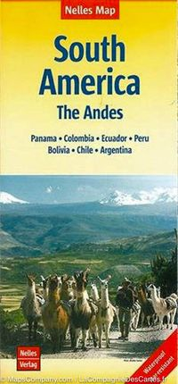 SOUTH AMERICA - THE ANDES 1:4.500.000 -NELLES