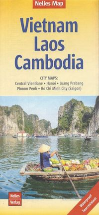 VIETNAM - LAOS - CAMBODIA 1:1.500.000 -NELLES VERLAG