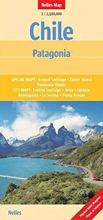 CHILE / PATAGONIA 1:2.500.000 -NELLES VERLAG