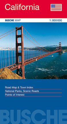 CALIFORNIA 1:800.000 -BUSCH MAP