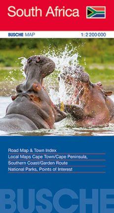SOUTH AFRICA 1:2.200.000 -BUSCHE MAP