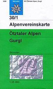30/1 OTZTALER ALPEN - GURGL MIT SKI 1:25.000