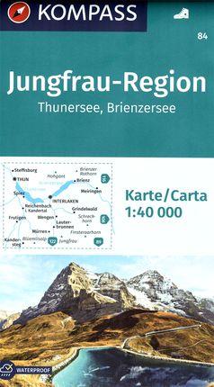 84 JUNGFRAU-REGION 1:40.000 -KOMPASS