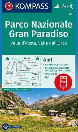 86 PN GRAN PARADISO 1:50.000 PARCO NAZIONALE -KOMPASS