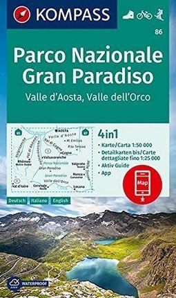 86 PN GRAN PARADISO 1:50.000 -KOMPASS
