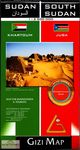 SUDAN & SOUTH SUDAN 1:2.500.000 -GEOGRAPHICAL -GIZI MAP
