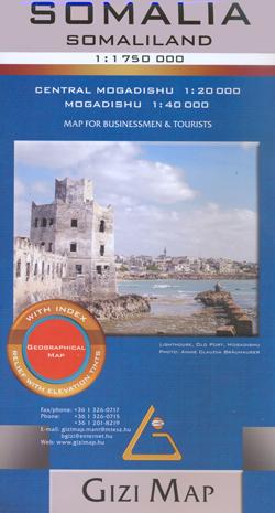 SOMALIA 1:1.750.000 SOMALILAND -GIZIMAP