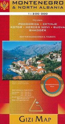 MONTENEGRO & NORTH ALBANIA 1:200.000 -GIZIMAP