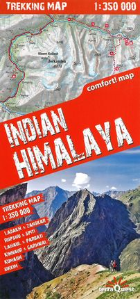 INDIAN HIMALAYA 1:350.000 -TERRAQUEST