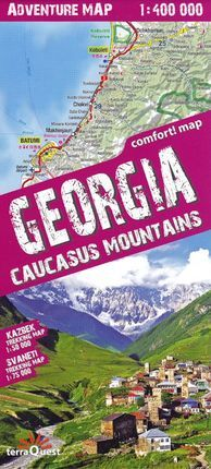 GEORGIA. CAUCASUS MOUNTAINS 1:400.000 -TERRAQUEST -ADVENTURE MAP - COMFORT MAP