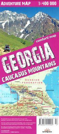 GEORGIA. CAUCASUS MOUNTAINS 1:400.000 -TERRAQUEST -ADVENTURE MAP - COMFORT MAP