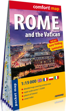 ROMA AND THE VATICAN 1:15.000 -COMFORT! POCKET MAP