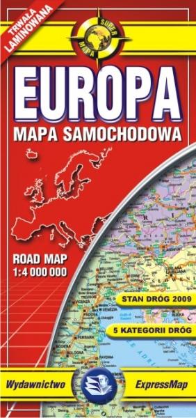 EUROPA 1:4.000.000 -COMFORT MAP EXPRESSMAP