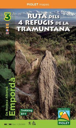 RUTA DELS 4 REFUGIS DE LA TRAMUNTANA 1:25.000 -PIOLET