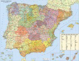 ESPAÑA - PORTUGAL [MINI MURAL] [1:2.500.000] -TELSTAR